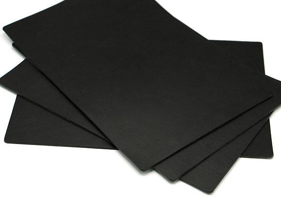 Leren Placemat (zwart)