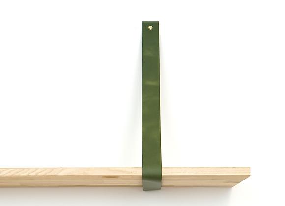 Leren plankendrager groen (set)