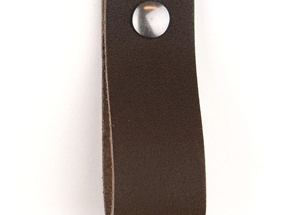 Leren handgreep donkerbruin [breed] 15 of 18 cm