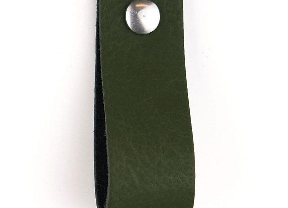 Leren handgreep groen [breed] 15 of 18 cm