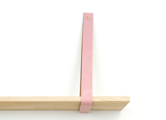 Leren plankendrager roze (set)