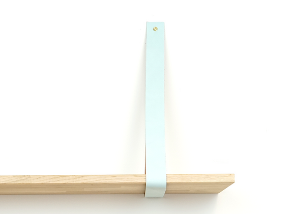Leren plankendrager lichtblauw (set)