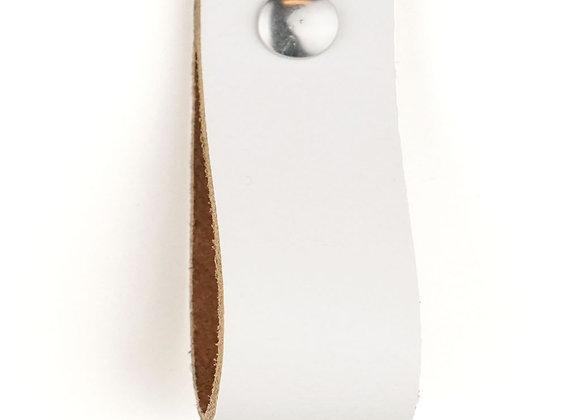 Leren handgreep wit [breed] 15 of 18 cm