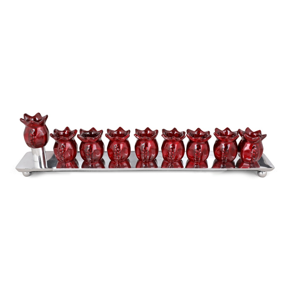 Bordeaux Aluminum Pomegranate Hanukkah M