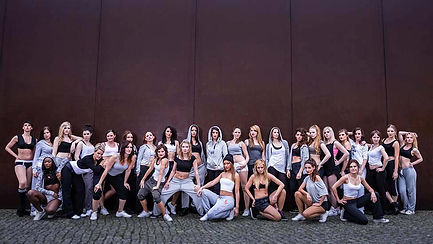 Foto der Cheerleader des Berlin Dance Teams
