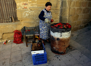 Pimentos, street, smoked, tradition