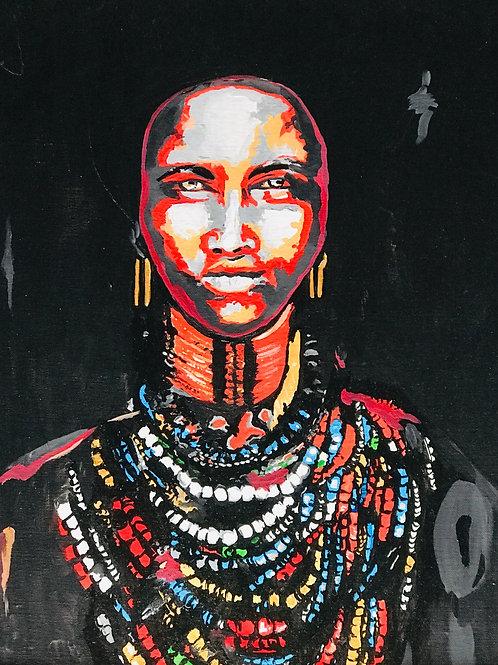African Eyes Print
