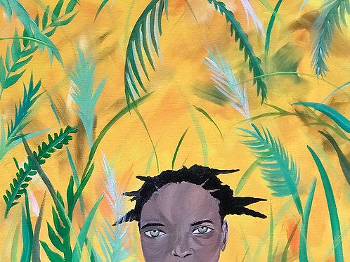 Green Eyed Girl Print