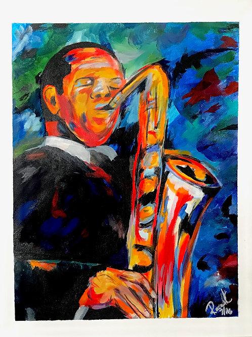 Saxophone Man Print