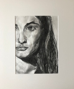 Strong I, charcoal portrait by Anna Clarke