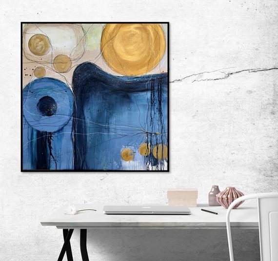 Blue&Gold by Anna Clarke 80x80cm acrylic on canvas.jpg