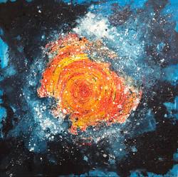 Comsic Wormhole IV by Anna Clarke, acryl