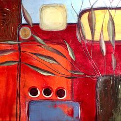Indian Summer by Anna Clarke, 80x80cm acrylic on canvas