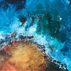 Seascape by Anna Clarke, 70x70cm acrylic