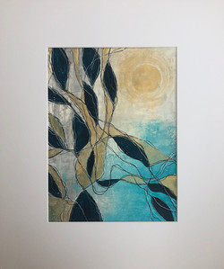 Waves III by Anna Clarke, acrylic on paper, 30x40cm