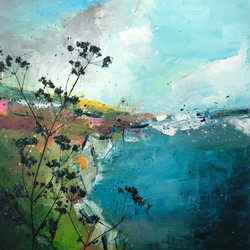 By the sea by Anna Clarke, 50x50cm, mixe