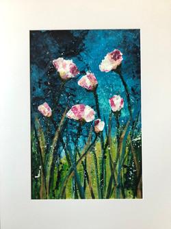 Dusk flowers II by Anna Clarke
