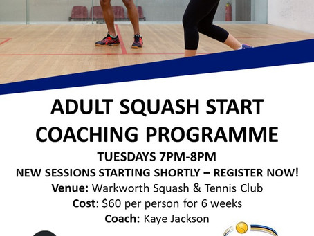 Adult Squash Starters program