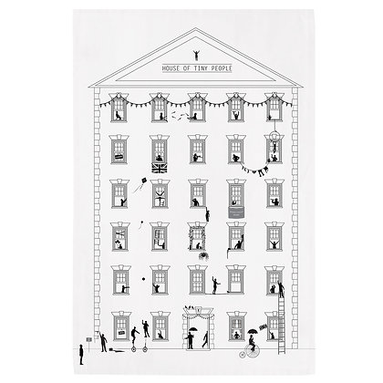 House of Tiny People Tea Towel