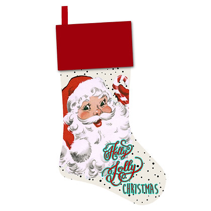 Retro Santa Christmas Stocking