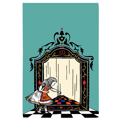 Alice and the Looking Glass Tea Towel