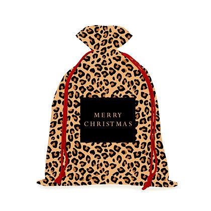 Classic Leopard Christmas Sack
