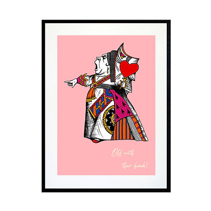 The Queen of Hearts - Colour Art Print