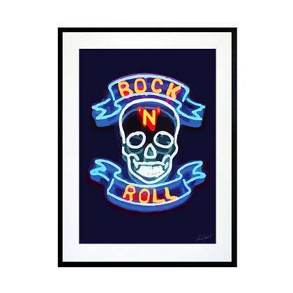 Rock n' Roll Skull Art Print