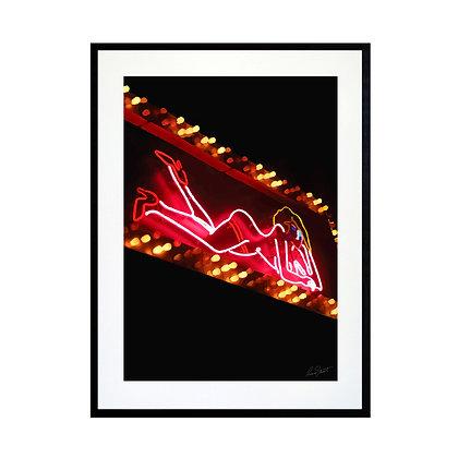 Neon Woman Art Print