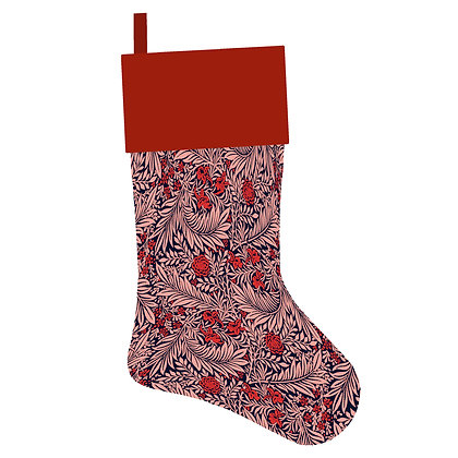 Pink Vintage Floral Christmas Stocking