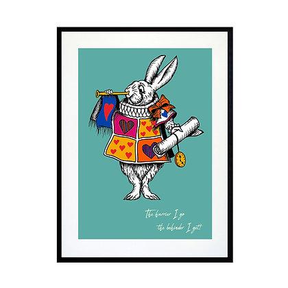 The White Rabbit - Colour Art Print