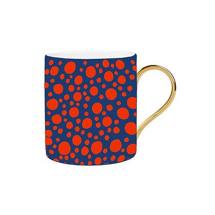 Blue and Orange Spot Mug