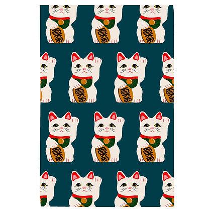 Waving Cat Tea Towel