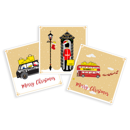Selfridges Christmas cards