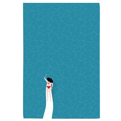 Summer Swimmer Tea Towel