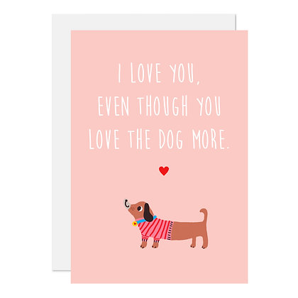 Love the dog more