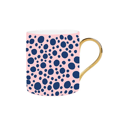 Pink and Blue Spot Mug
