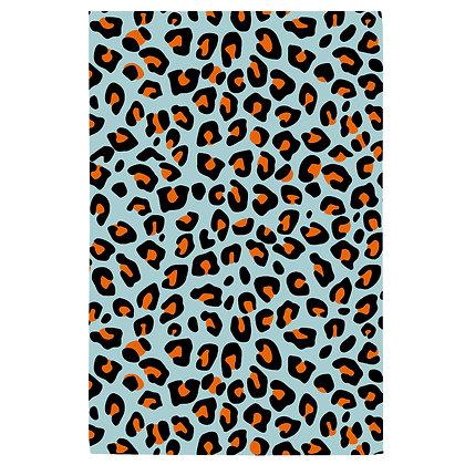 Blue Leopard Tea Towel
