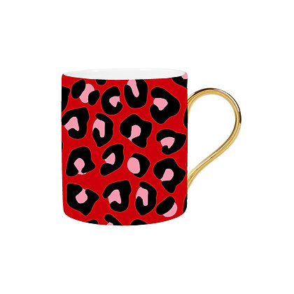 Red Leopard Mug