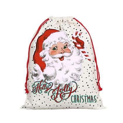 Retro Santa Christmas Sack