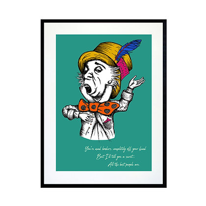 The Mad Hatter - Colour Art Print