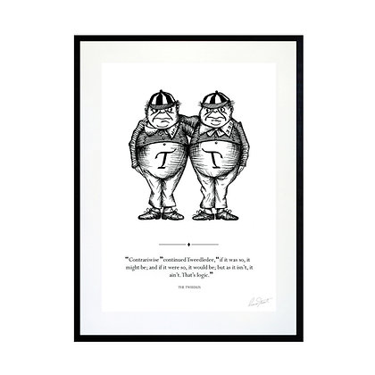 The Tweedles Art Print