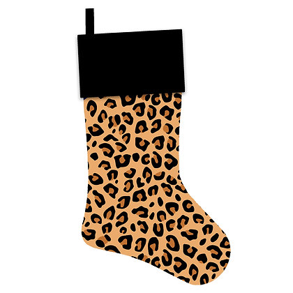 Classic Leopard Christmas Stocking