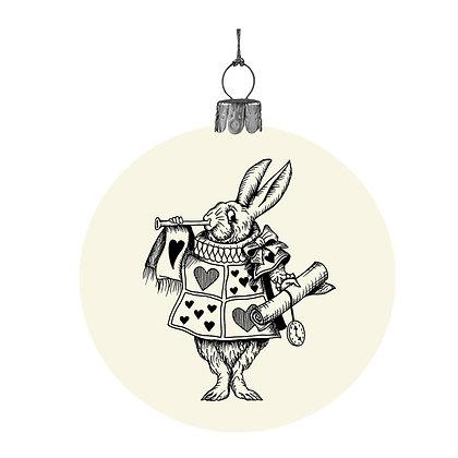 Alice in Wonderland bauble - The White Rabbit