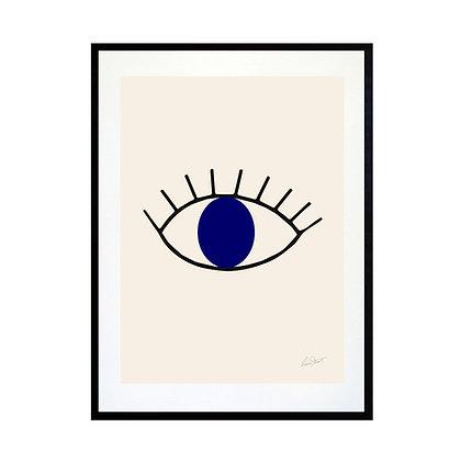 Abstract Eye Art Print