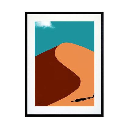 Desert Shadow Art Print