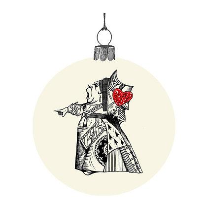 Alice in Wonderland bauble - The Queen of Hearts