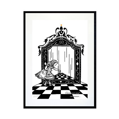 Alice and the Looking Glass Art Print