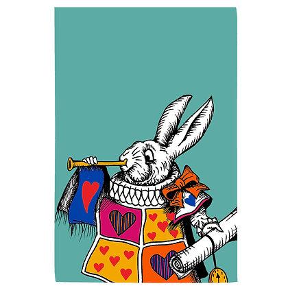 The White Rabbit Tea Towel