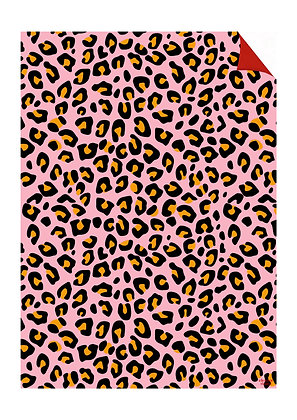 Pink Leopard Gift Wrap